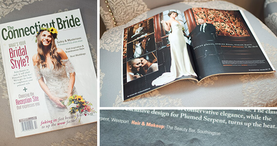 ct bride magazine article collage